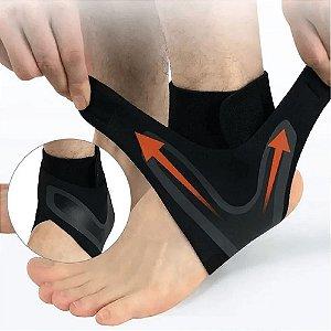 Proteção De Tornozelo Com Tensão Esportes Passeio Compressão Antitorção c/ Suporte de Calcanhar