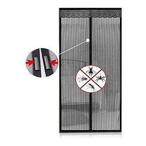 Cortina Tela Magnética P/porta Anti-mosquitos, Uso Doméstico Protetora Anti Contra Mosquito Inseto Dengue