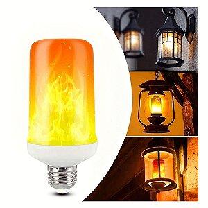 Kit 4 Lampada Led Efeito Fogo Tocha Chama Flame Bivolt