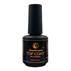 Selante Top Coat Fengshangmei Pretinho do Poder Porcelana Acrigel Extra Brilho Led UV