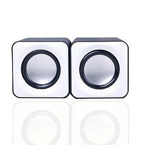 Mini Caixa Caixinha Som Portátil 2.0 Usb P2 Pc Notebook Cores Beotes