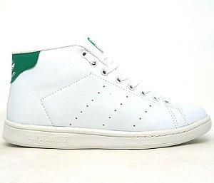 2f6fcc826e0 Tênis Adidas Stan Smith Cano Alto Branco e Verde