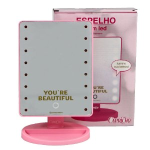 Espelho com Led You're Beautiful - Rosa