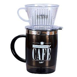 Caneca com Filtro Pra Passar Café
