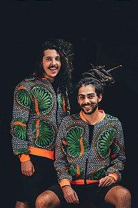 Jaqueta - Estampa Folhas NEON