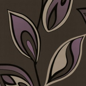 Papel De Parede Floral Roxo e fundo Marrom