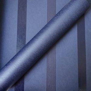 Papel de Parede Listrado Azul escuro