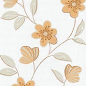 Papel de Parede Florido laranja