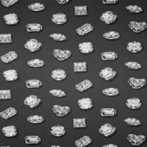 Papel de Parede Diamantes Preto e Cinza