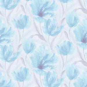 Papel de Parede Florido Azul