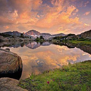 Painel Fotográfico Paisagem de lago e céu