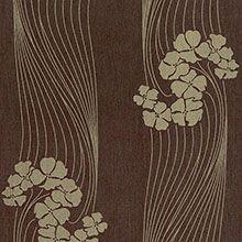 Papel de Parede Floral Marrom