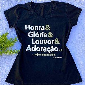 T-SHIRT ALGODÃO HONRA E GLÓRIA