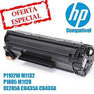 Toner Compatível HP P1102W M1132 P1005 M1120 CE285A CB435A CB436A