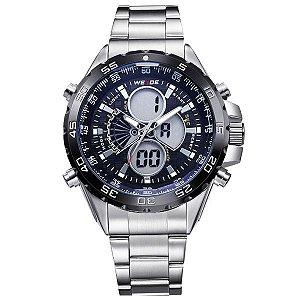 Relógio Masculino Weide Anadigi WH-1103 PT