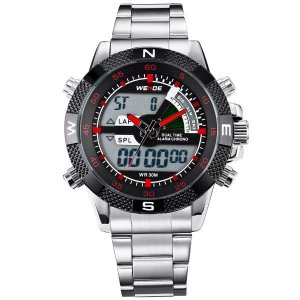 5151f3e77d9 Relógio Masculino Weide Anadigi WH-1104 VM