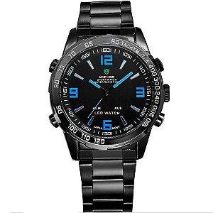 Relógio Masculino Weide Anadigi WH-1009 PT-AZ