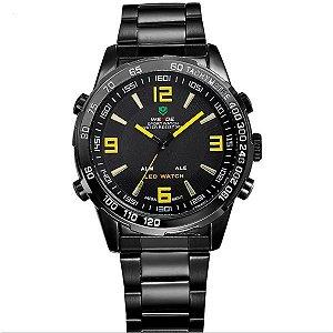 Relógio Masculino Weide Anadigi WH-1009 PT-AM
