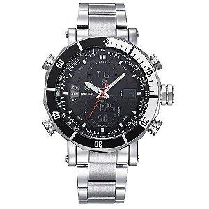 Relógio Masculino Weide Anadigi WH-5203 PR-PT