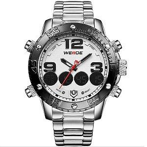 Relógio Masculino Weide Anadigi WH-3405 PR-BR