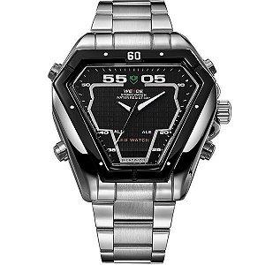 Relógio Masculino Weide Anadigi WH-1102 PR-PT