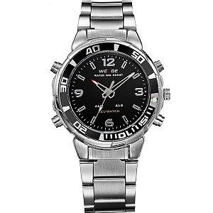 Relógio Masculino Weide Anadigi WH-843 PR-PT