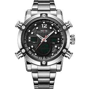 Relógio Masculino Weide Anadigi WH-5205 PR-PT