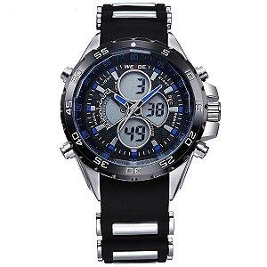 Relógio Masculino Weide Anadigi WH-1103 PT-AZ