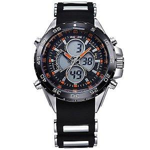Relógio Masculino Weide Anadigi WH-1103 PT-LR