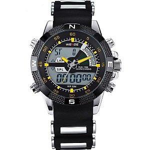 Relógio Masculino Weide Anadigi WH-1104 PR-AM