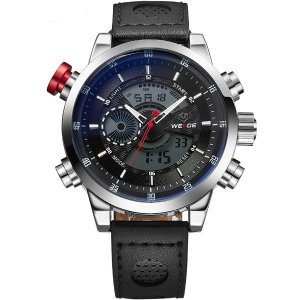 Relógio Masculino Weide Anadigi WH-3401-C PR-PT