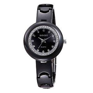 Relógio Feminino Weiqin Analógico Cerâmica W3206 PT