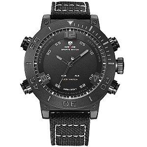 Relógio Masculino Weide Anadigi WH-6103 PT e CZ