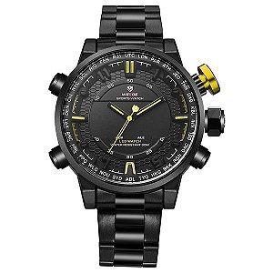 Relógio Masculino Weide Anadigi WH-6402 Amarelo