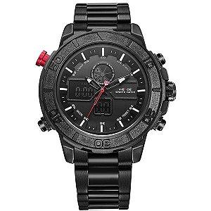Relógio Masculino Weide Anadigi WH-6108 Preto