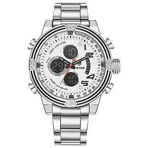 Relógio Masculino Weide Anadigi WH-5209 Branco