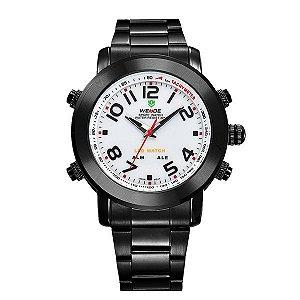 Relógio Masculino Weide Anadigi WH-1105 Branco