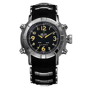 Relógio Masculino Weide Anadigi WH-1106 Amarelo