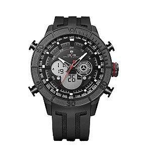 Relógio Masculino Weide Anadigi WH-6308 Preto