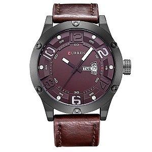 Relógio Masculino Curren Analógico 8251 Vinho