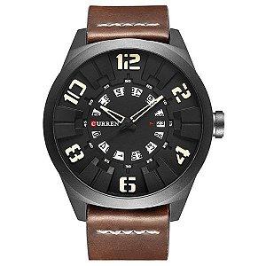 Relógio Masculino Curren Analógico 8258 Bege