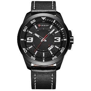 Relógio Masculino Curren Analógico 8213 Preto