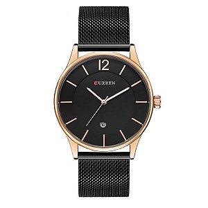 Relógio Masculino Curren Analógico 8231 Dourado