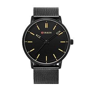 Relógio Masculino Curren Analógico 8233 Preto e Marrom