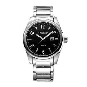 Relógio Masculino Curren Analógico 8048 Prata e Preto