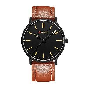 Relógio Masculino Curren Analógico 8233 Preto e Bege