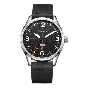 Relógio Masculino Curren Analógico 8265 Preto e Branco