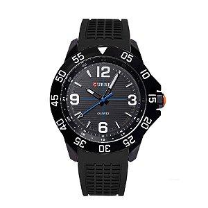 Relógio Masculino Curren Analógico 8181 Preto