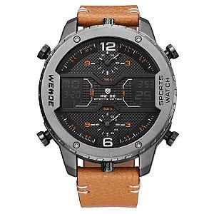 Relógio Masculino Weide Anadigi WH6401 Preto e Cinza