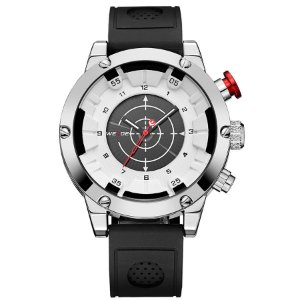 Relógio Masculino Weide Anadigi WH6301 Preto e Branco